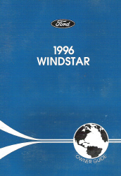 1996 Ford Windstar Owner's Manual with Case