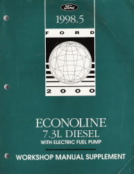 1998.5 Ford Econoline 7.3L Diesel with Electric Fuel Pump Workshop Manual Supplement