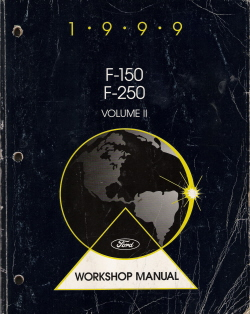 1999 Ford F150 & F250 Factory Workshop Manual - 2 Volume Set