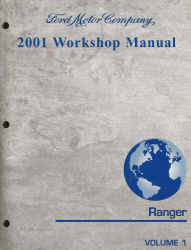 2001 Ford Ranger Factory Workshop Manual - 2 Vol. Set