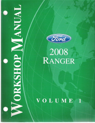 2008 Ford Ranger Factory Workshop Manual - 2 Volume Set
