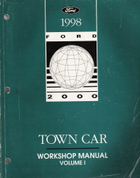 1998 Lincoln Town Car Factory Workshop Manual - 2 Volume Set