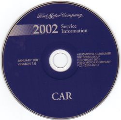 2002 Model Year Ford, Lincoln & Mercury Cars: Factory Workshop Information DVD-ROM