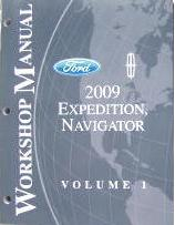 2009 Ford Expedition / Navigator Factory Workshop Manual - 2 Volume Set