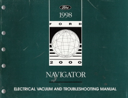 1998 Lincoln Navigator Electrical Vacuum and Troubleshooting Manual