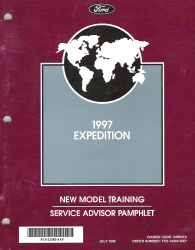 1997 Expedition New Model Training Service Advisor Pamphlet