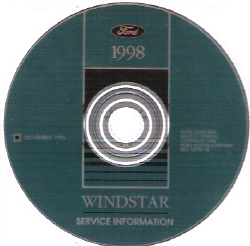 1998 Ford Windstar Factory Service Manual on CD-ROM