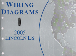 2005 Lincoln LS Factory Wiring Diagram Manual