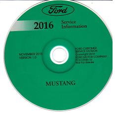 2016 Ford Mustang Factory Service Manual CD-ROM