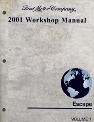 2001 Ford Escape Factory Workshop Manual - 2 Vol. Set