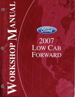 2007 Ford Low Cab Forward Factory Service Manual