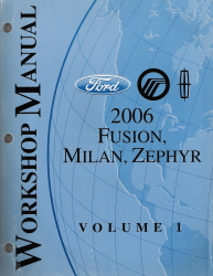 2006 Ford Fusion, Mercury Milan & Lincoln Zephyr Factory Workshop Manual