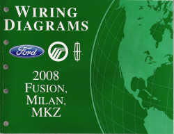 2008 Ford Fusion, Mercury Milan & Lincoln MKZ Factory Wiring Diagram