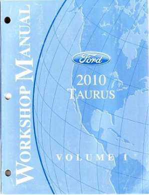 2010 Ford Taurus Factory Workshop Manual - 2 Volume Set