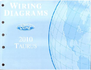 2010 Ford Taurus Factory Wiring Diagrams Manual