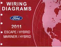2011 Ford Escape, Escape Hybrid, Mercury Mariner & Mariner Hybrid Factory Wiring Diagrams Manual