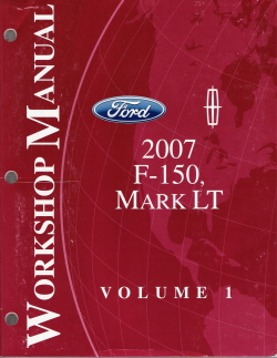 2007 Ford F-150 & Lincoln Mark LT Factory Service Manual - 2 Volume Set