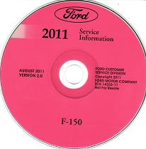 2011 Ford F-150 Factory Service Information CD-ROM