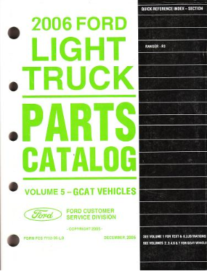 2006 Ford Ranger Parts Catalog Vol. 5