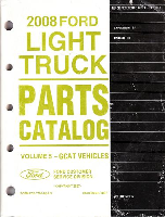 2008 Ford Expedition & Ranger Parts Catalog Vol. 5