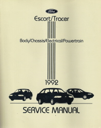 1992 Ford Escort / Mercury Tracer Factory Service Manual