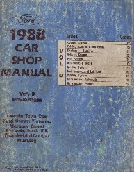 1988 Ford Car (Town Car, Crown Victoria, Grand Marquiz, Mark VII, Thunderbird, Cougar and Mustang) Factory Shop Manual - Powertrain