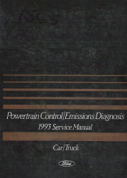 1993 Ford Ca r/ Truck Powertrain Control & Emission Diagnosis Factory Service Manual