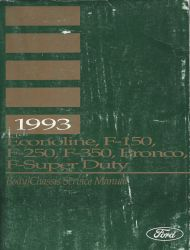 1993 Ford Bronco, F150, F250, F350, F-Super Duty & Econoline Factory Service Manual - 2 Volume Set