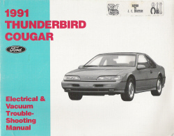 1991 Ford Thunderbird and Mercury Cougar Electrical and Vacuum Troubleshooting Manual