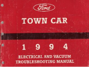 1994 Lincoln Town Car  Electrical and Vacuum Troubleshooting Manual