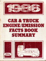 1986 Ford Car & Truck Engine and Emission Facts Book Summary