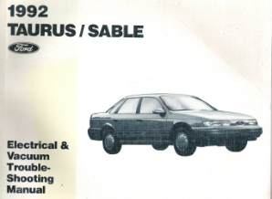 1992 Ford Taurus & Mercury Sable Electrical and Vacuum Troubleshooting Manual