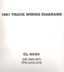 1991 Ford CL-9000 Truck Wiring Diagrams