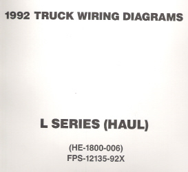1992 Ford Medium/Heavy Truck L-Series Wiring Diagrams (Haul Configuration)