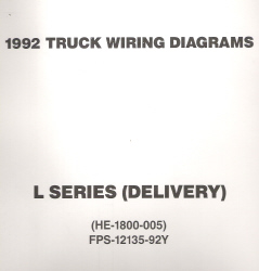 1992 Ford Medium/Heavy Truck L-Series Wiring Diagrams (Delivery Configuration)