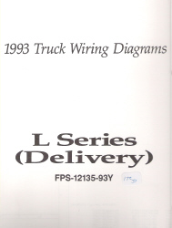 1993 Ford Medium/Heavy Truck L-Series Wiring Diagrams (Delivery Configuration)