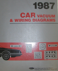 1987 Ford Cars Factory Vaccum and Wiring Diagrams