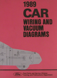 1989 Ford Car Factory Wiring and Vacuum Diagrams