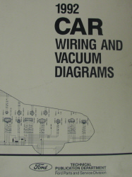 1992 Ford Cars Factory Wiring and Vacuum Diagrams