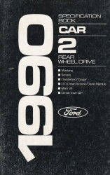 1990 Ford Specification Book (#2)