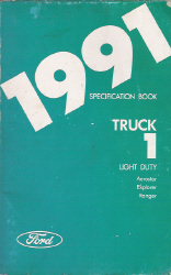 1991 Ford Light Duty Specification Manual