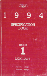1994 Ford Light Duty Truck Specification Manual Book 1