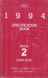 1994 Ford Light Duty Truck Specification Manual Book 2