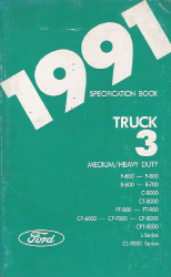 1991 Ford Medium/Heavy Duty Truck Specification Manual