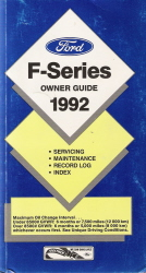 1992 Ford F-Series Owner Guide