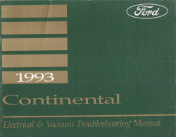 1993 Lincoln Continental Factory Electrical and Vacuum Troubleshooting Manual