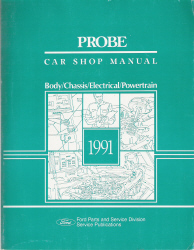 1991 Ford Probe Factory Service Manual
