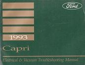 1993 Ford Capri Electrical and Vacuum Troubleshooting Manual