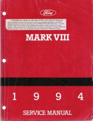 1994 Lincoln Mark VIII Factory Service Manual