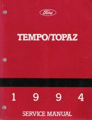 1994 Ford Tempo & Mercury Topaz Factory Service Manual